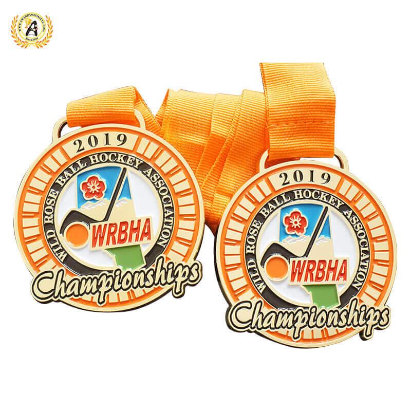 custom hockey medals