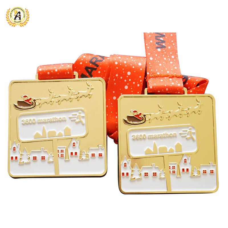 christmas running medals