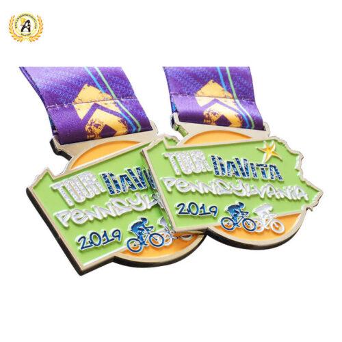 virtual cycling medals